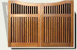 Custom Wood Driveway Gates #28