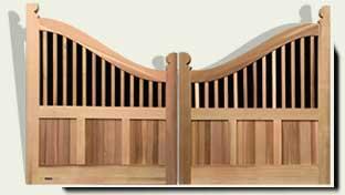 Custom Wood Driveway Gates #35