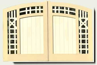 Wood Driveway Gate #37