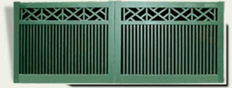 Custom Wood Driveway Gates #9