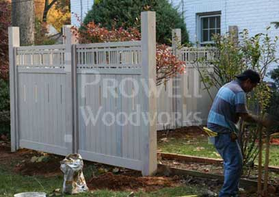 installing prowell fence panels