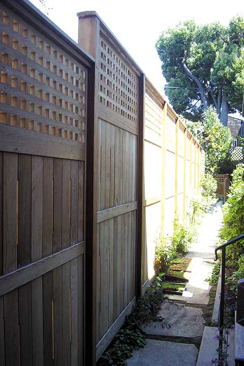 Wood fences Panel in California