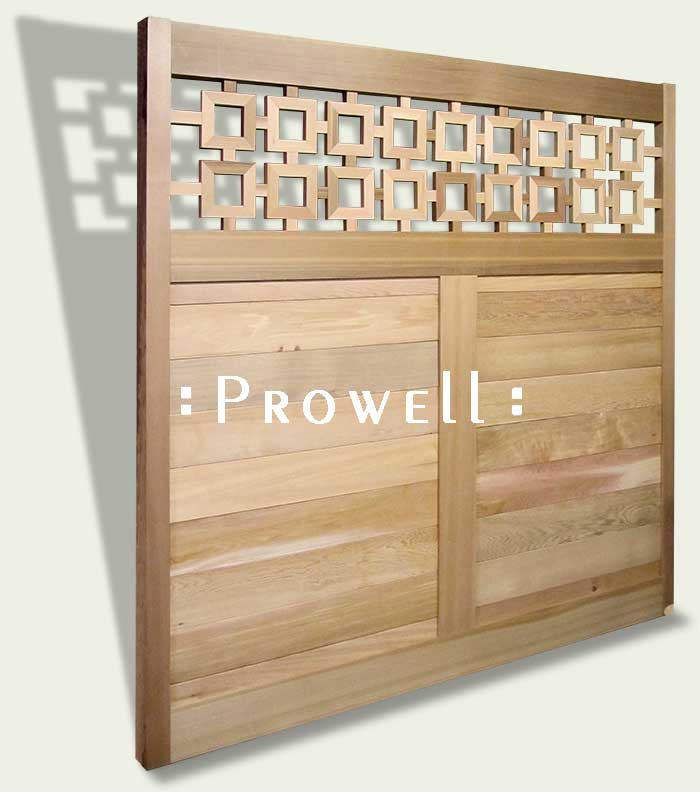 wood fence pendant squares. prowell.