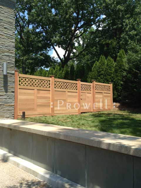 wood fence Panel in Upstate New York