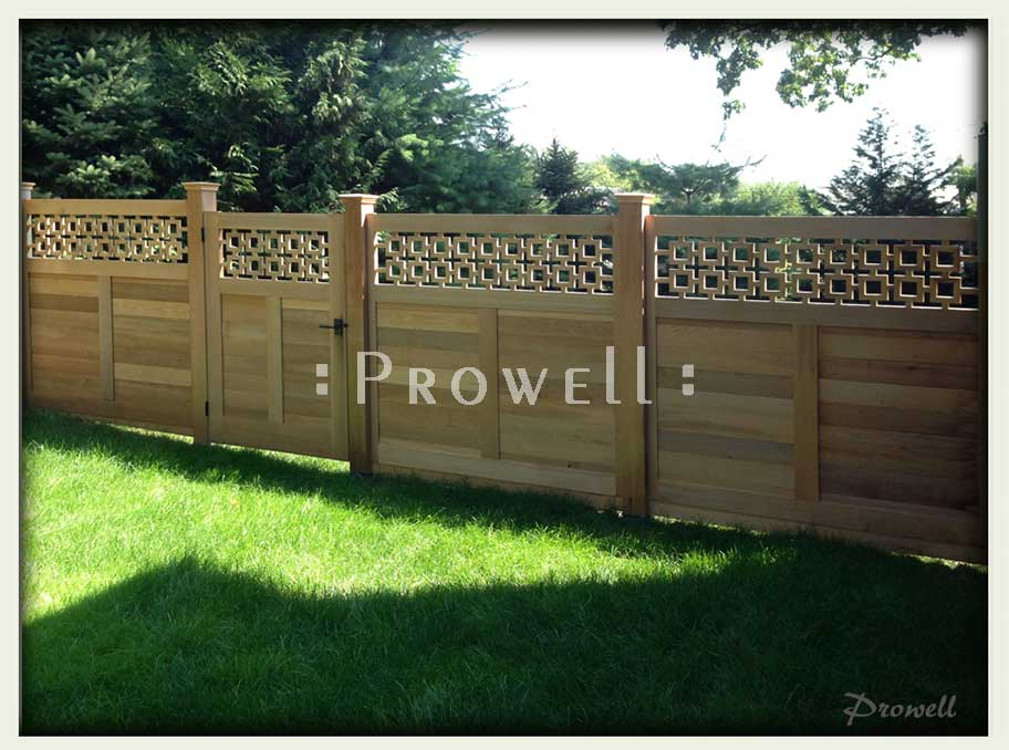 unique wood fence in New York. prowell