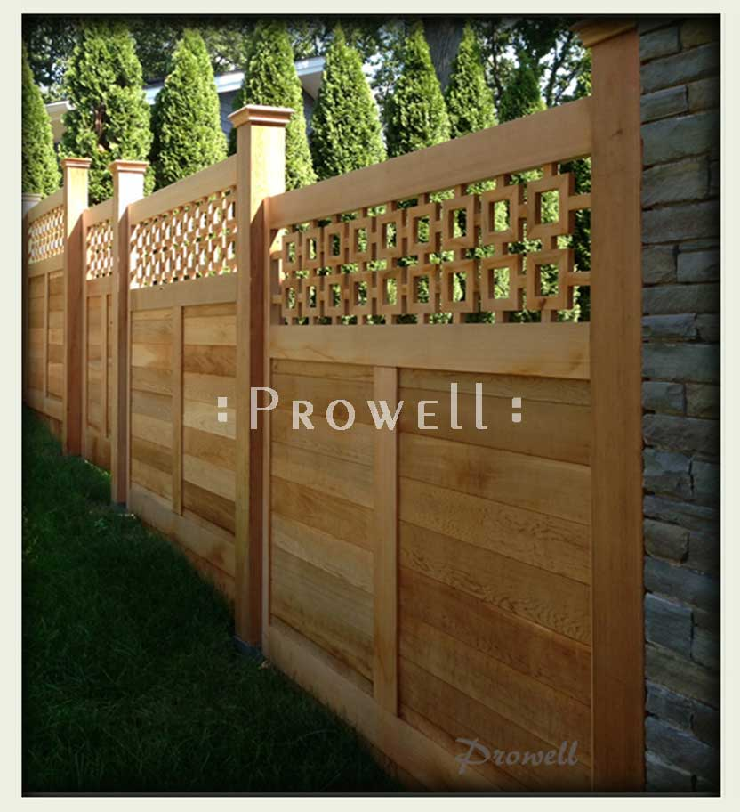 custom wood fence #12j in Westchester, New York. Prowell