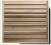 Horizontal Wood Fence #17