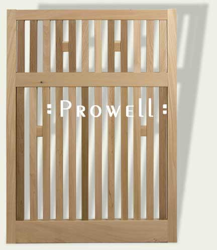 custom wood garden fence 2-6dd