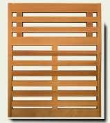 Horizontal Wood Fence #8
