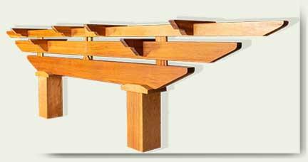 custom wood garden arbor 13A