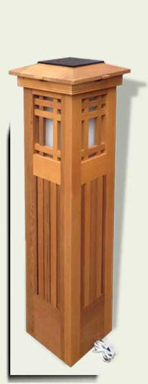 link to Lighted Wood Garden Column #8