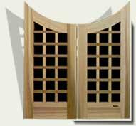 Custom Wood Garden Gate #13