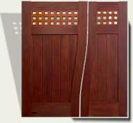 Custom Wood Garden Gate #14