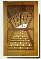 Wood Designer Garden Gate #211