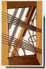 Custom Wood Abstract Wood Gate #213