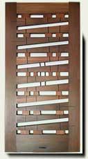 Custom Wood Abstract Wood Gate #214