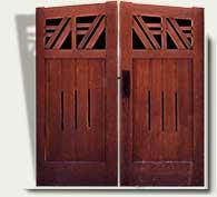 Custom Wood Garden Gate #26