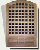 Custom Wood Garden Gate #77