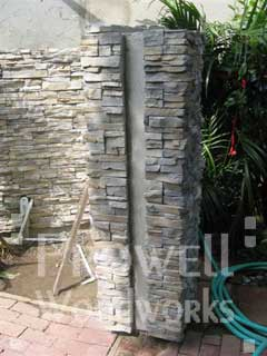 stone columns for gate jambs