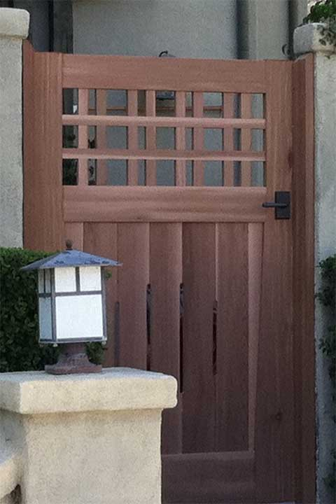 how to install jambs for wood gates