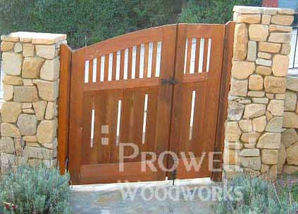 gates with sloping grades