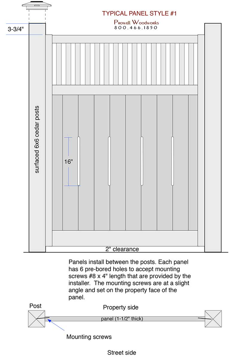 typical prowell fence panel spec