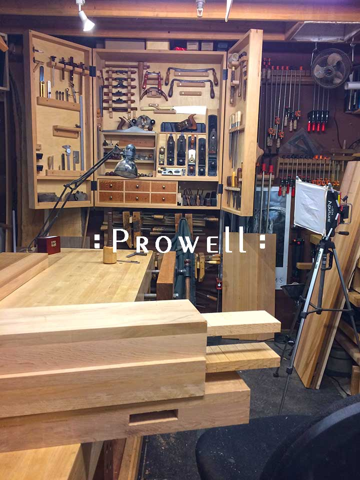 woodworking tenon with wedges. prowell