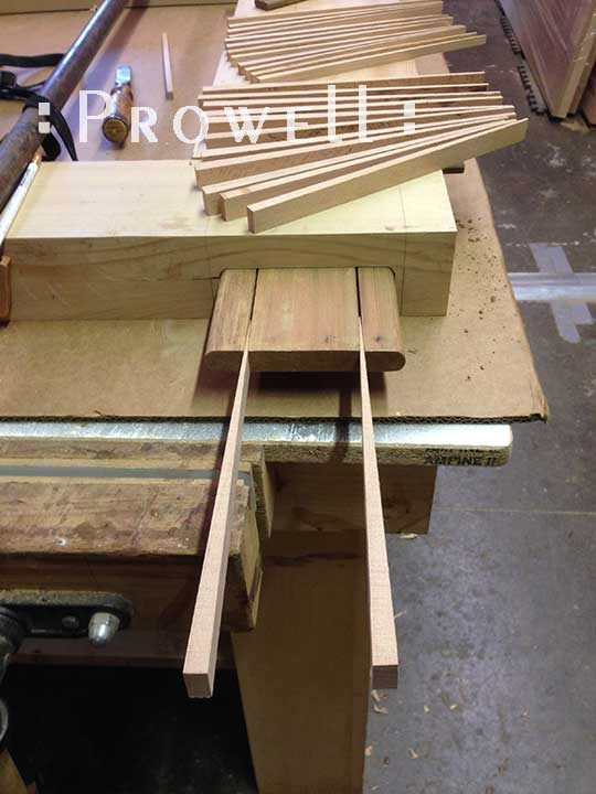 wood gates with tenons and wedges, from Prowell