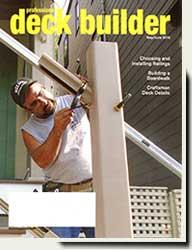 wood fence panels in Deck Builder magazine 2016