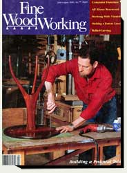 Prowell's stand-up desk in Fine Woodworking magazine 1989