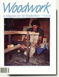 Trestle dining table by Prowell in Woodwork Magazine 1989