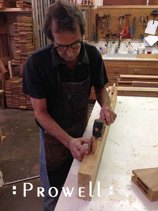 Building a wood gate with double tenons