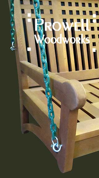 prowell wood swing with coated chain