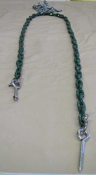 outdoor swing chains coated