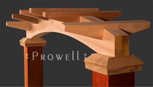custom wood arch arbor #8