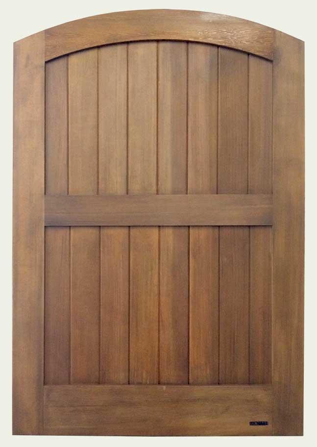 WoodRX 'Walnut' finish to wood gate 31. prowell