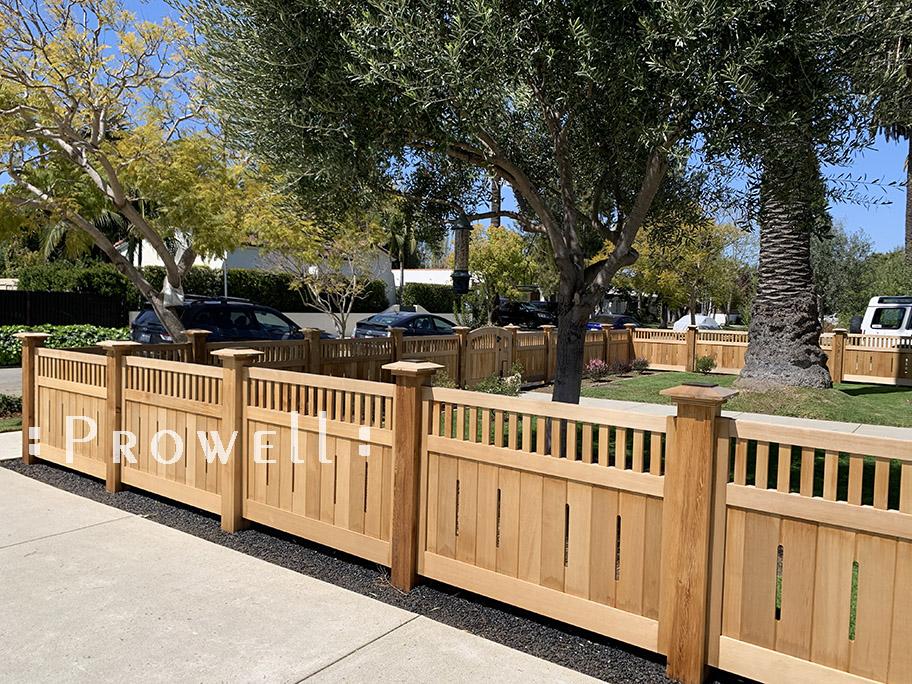 Custom Wood Fence #21 in Venice Beach, CA
