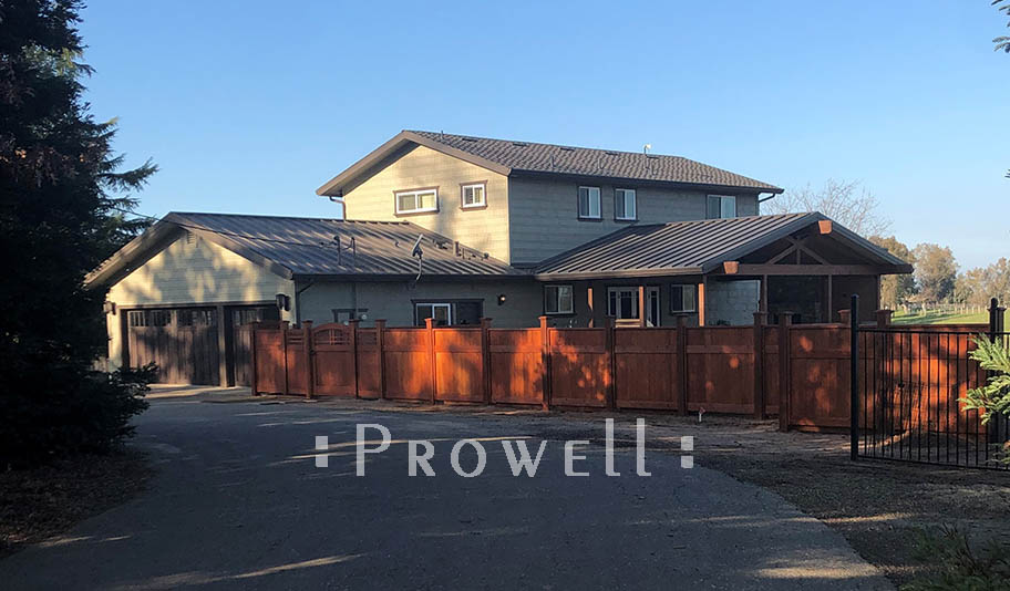 Custom solid privacy fence #20-7. prowell