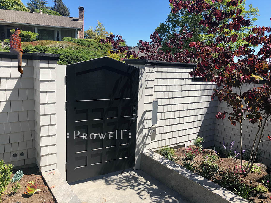site photograph showing the wooden gate entrance #110-1 from within the property. Oakland, California #110-1b in Oakland, CA