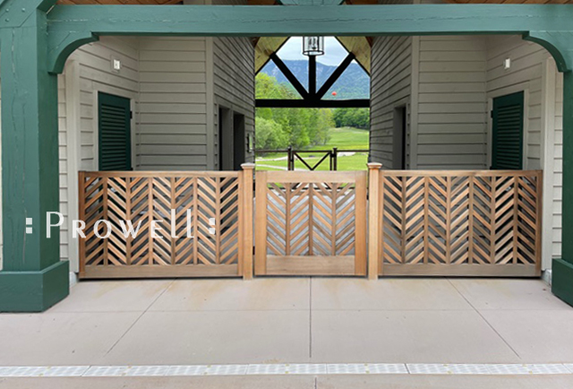 Another site photo showing wood garden gate #11-3 in upstate, new york.