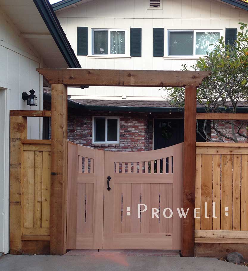 arching wooden gate in Pleasanton, california