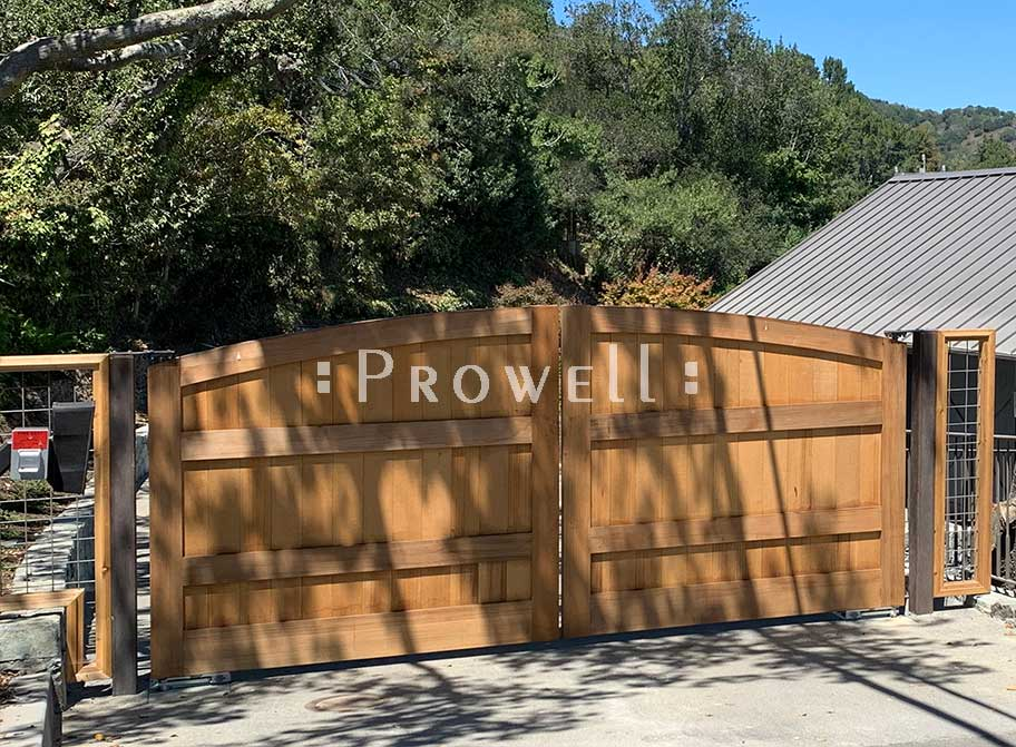 site photo of wooden entry gates #6-4 in Marin County, california
