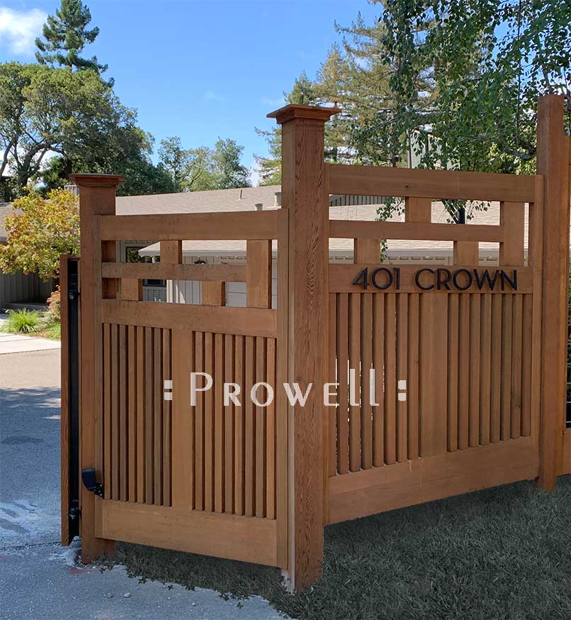 site photo showing fence $15-1 in marin county, california