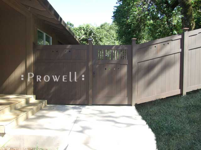 Site photo showing wood garden gate #111-1 in Sonoma, California