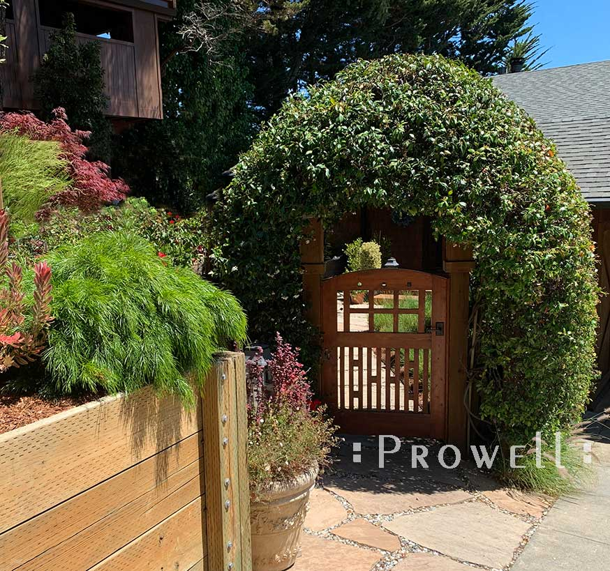 Site photo showing arching gate #53-3 in Marin county, California