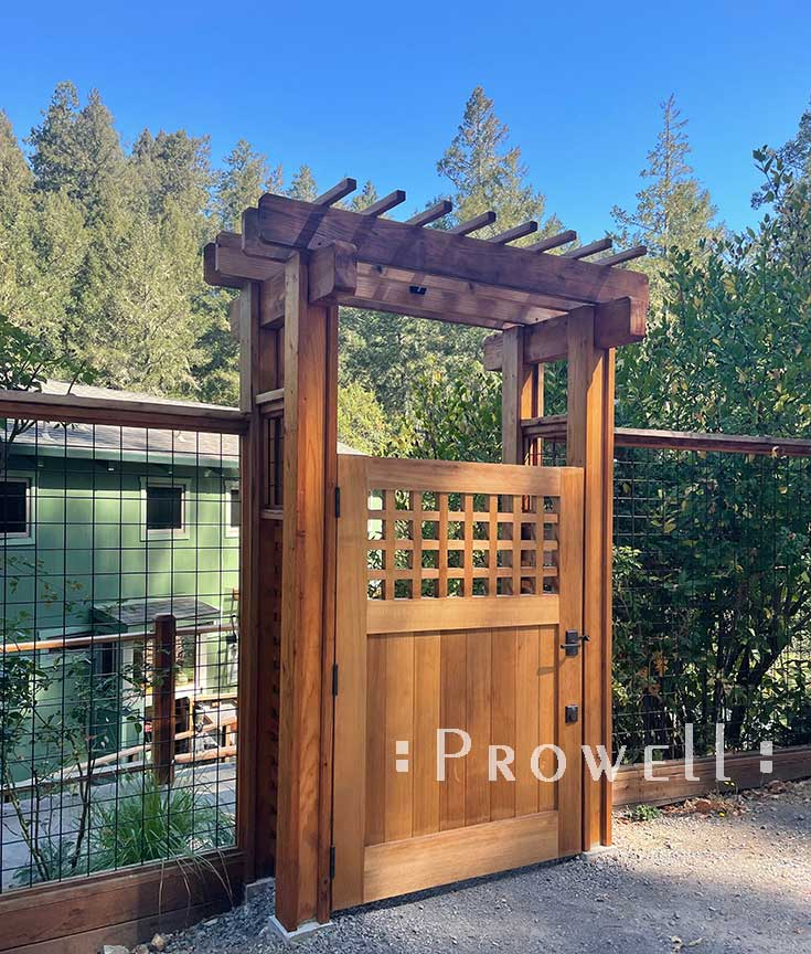 site photo showing the outdoor gate 103-6 in sonoma county, california