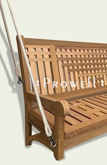 cropped image showing front porch swing 21 with rope