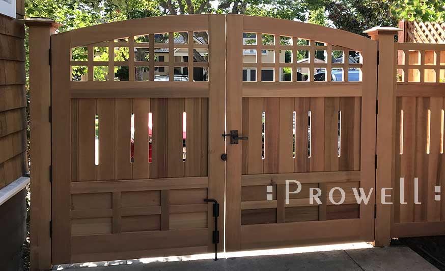 double wood gates with hardware